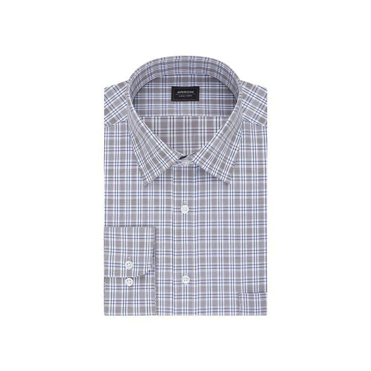 Men's Arrow Classic-Fit Dress Shirt, Size: 2X-34/35, Blue