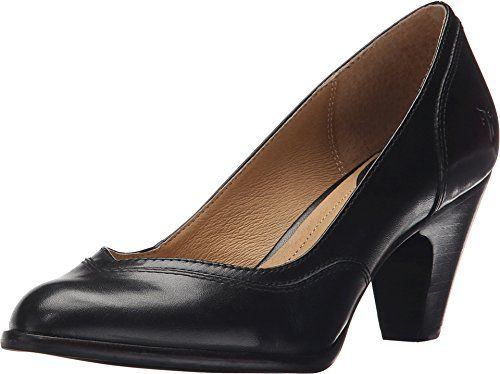 Frye Women's Cynthia Pump. Tailored stitching along collar and back heel. Smooth leather interior. Lightly cushioned leather footbed for all-day comfort. Rubber outsole for excellent traction. Imported. http://www.manhattanmart.com/frye-womens-cynthia-pump/