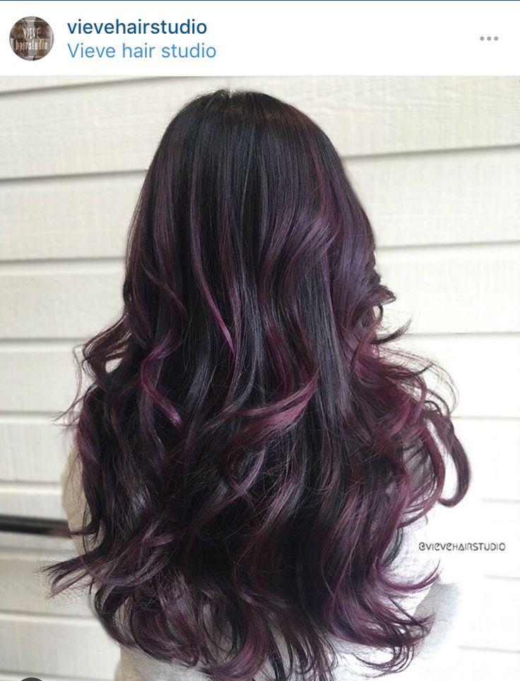 Magic Plum On Dark Brown Hair Image Dark Brown Hairs Of 29