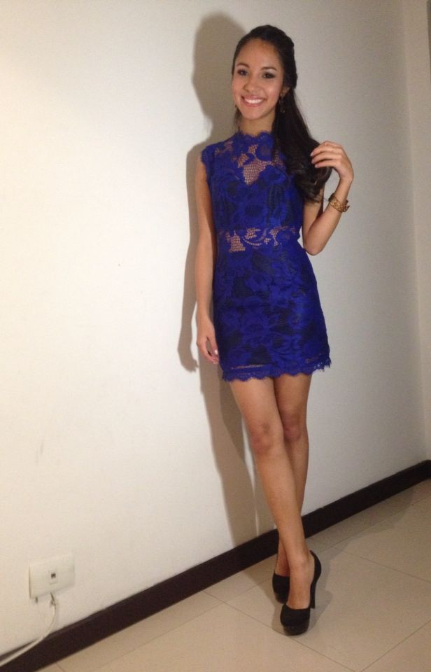 #blue#lace#dress#outfit#