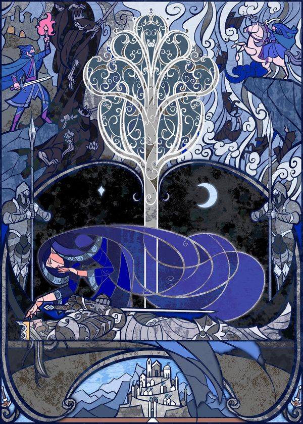 Arwen & Aragorn stained glass. Pretty, but I just realized it's based off of the movie not the book. :(