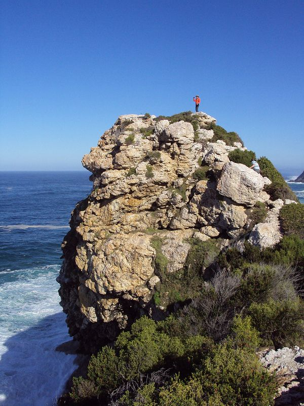 One of the most gruelling day's hiking. The lookout from the top of the rock is spectacular - Otter Trail, Eastern Cape
