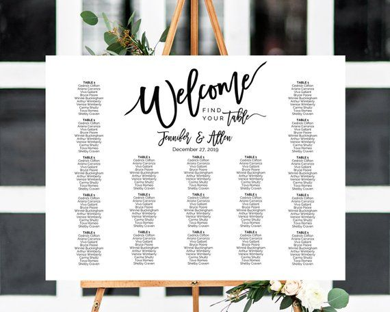 Seating Chart Template Wedding Seating Chart Seating Plan Etsy Seating Chart Wedding Wedding Seating Signs Wedding Seating