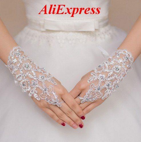 Bridal Gloves - White, Red, Ivory, Black