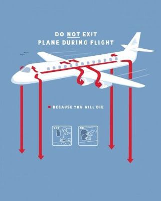 The Madness - Funny Picture - Do Not Exit Plane During Flight | Funny Joke Pictures