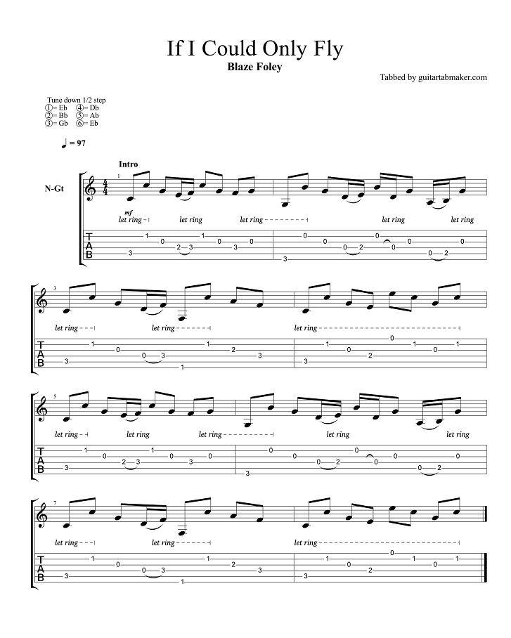 Classical Guitar Tablature - 26 May 2019