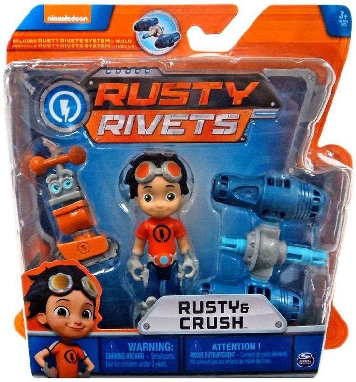 Nickelodeon Build Me Rivet System Rusty Crush Figure Set