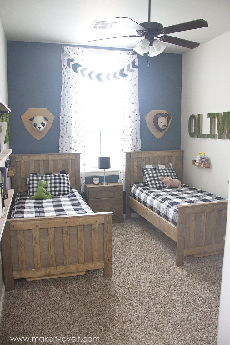 ideas for a shared boys bedroom yay all done - Decorate Boys Bedroom