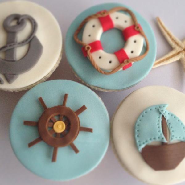Denizci temalı Cupcakeler