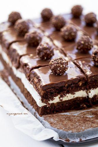 Torta al cioccolato e Ferrero Rocher