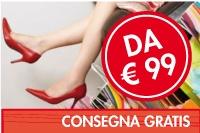 La consegna è gratis a partire da 99 euro!