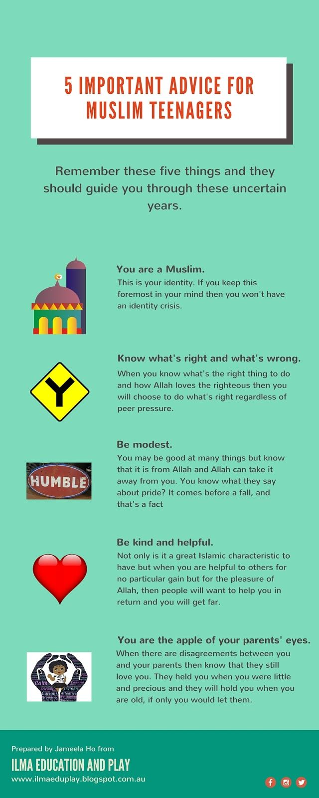 ILMA Education: 5 Important Advice for Muslim Teenagers