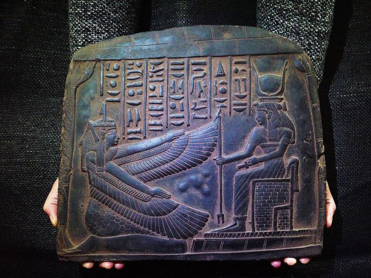 ANCIENT EGYPT EGYPTIAN ANTIQUE Goddess Maat And Isis Stela Relief 2510–2370 BC