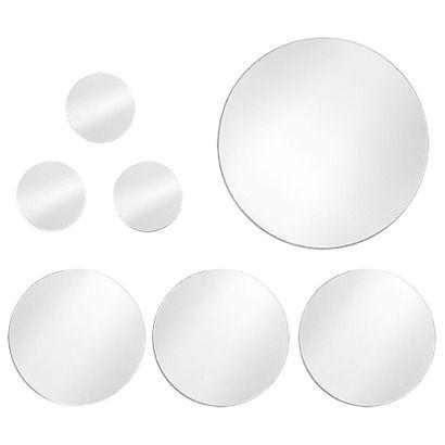 Threshold Frameless Circle Mirror 7 Pieces