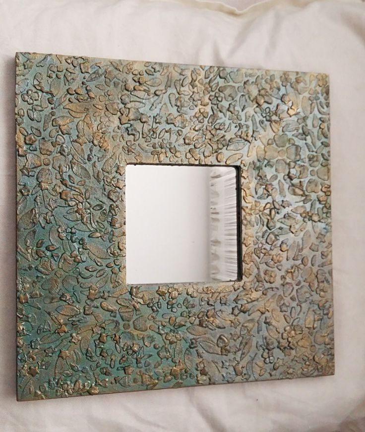hand decorated mirror decorative mirror wall mirror decorated mirror colors small square - Decorate Mirror Frame