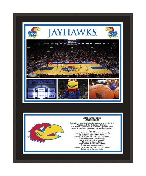 Kansas Jayhawks Sublimated 12x15 Plaque
