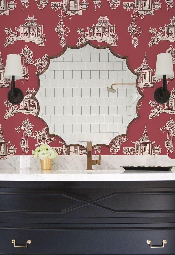 33 best bathroom wallpaper ideas images on pinterest wallpaper chinois by sketchtwenty 3 radicchio red wallpaper direct wallpaper designs