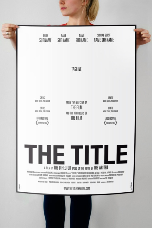 Movie poster template