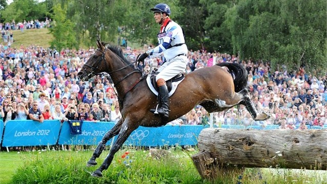 William Fox-Pitt of Great Britain on Lionheart negotiates a jump