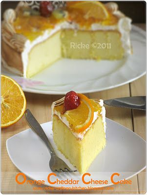 Just My Ordinary Kitchen...: ORANGE CHEDDAR CHEESE CAKE
