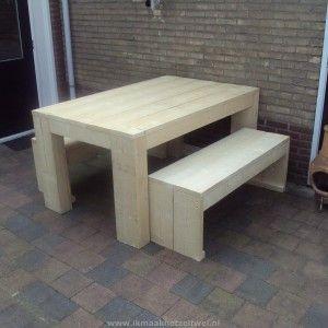 Tafel van Steigerhout, zelf maken? Download hier de bouwtekening