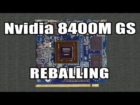 awesome How To Repair Acer Laptop Graphics Card Nvidia 8400M - Reballing