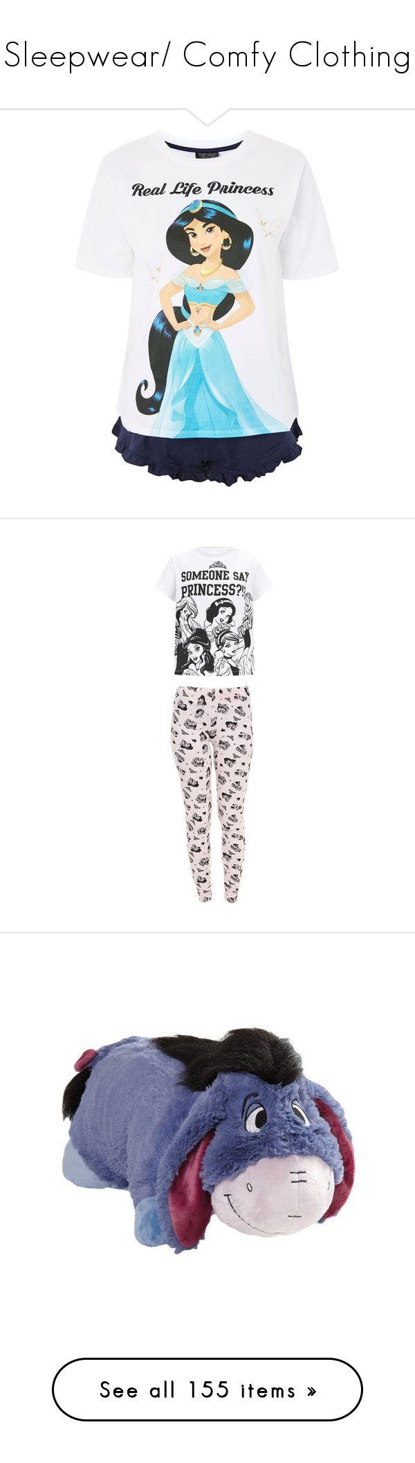 """""""Sleepwear/ Comfy Clothing"""" by xhoneymoonavenuex ❤ liked on Polyvore featuring intimates, sleepwear, pajamas, topshop pyjamas, cotton pajama set, topshop sleepwear, topshop pjs, cotton pjs, disney pajamas and white pajamas"""