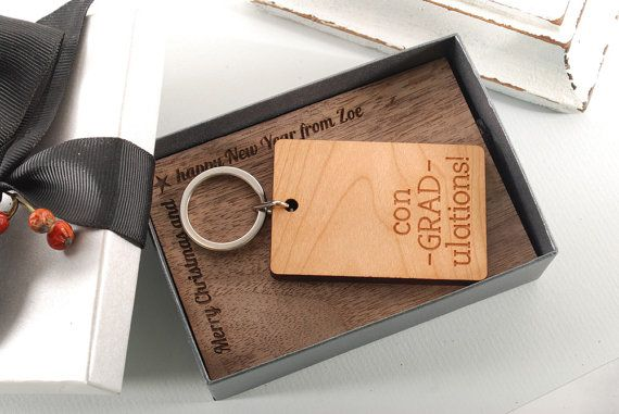 CONGRATS  ready to give gift box personalized solid by MoodForWood
