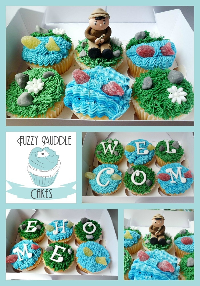 Welcome Home Fishing Cupcakes Cupcakes Cakes Sports Theme Pinterest