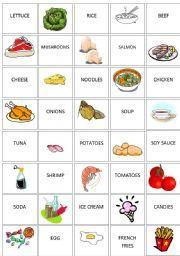 English Worksheet Food Memory Game Memory Games