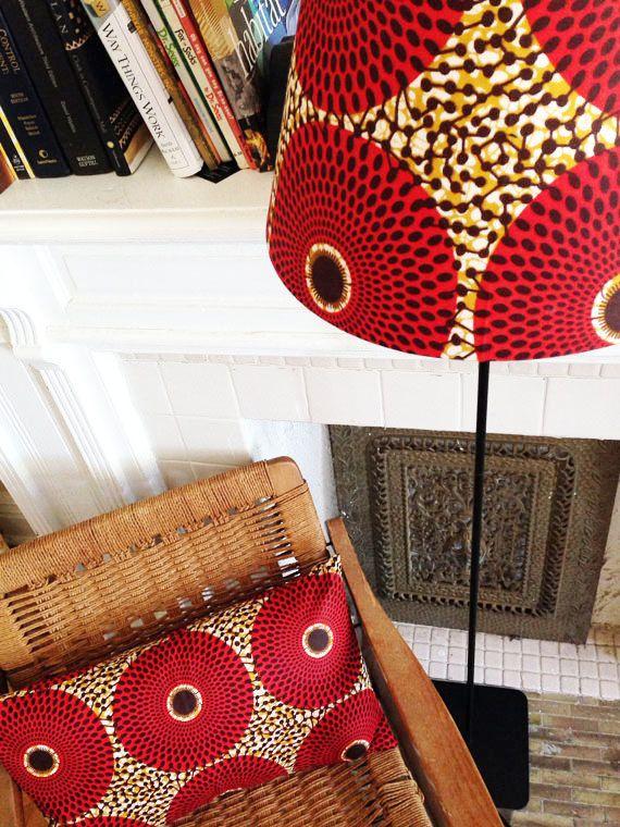 Ensemble lampe impression Wax africain par OSxN sur Etsy                                                                                                                                                                                 Plus