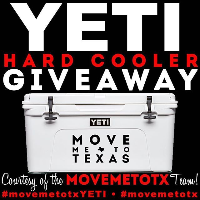 The cats out of the bag... Were giving away a #Yeti Tundra Hard Cooler! . . For more details on how to enter to win visit www.movemetotx.com/yeti! . #movemetotxyeti #yeti #hardcooler #yeticooler #giveaway #freeyeti #houstonrodeo #rodeoseason