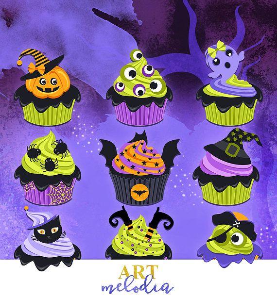 Halloween Clipart Halloween Cupcake Clipart Holiday Cupcakes