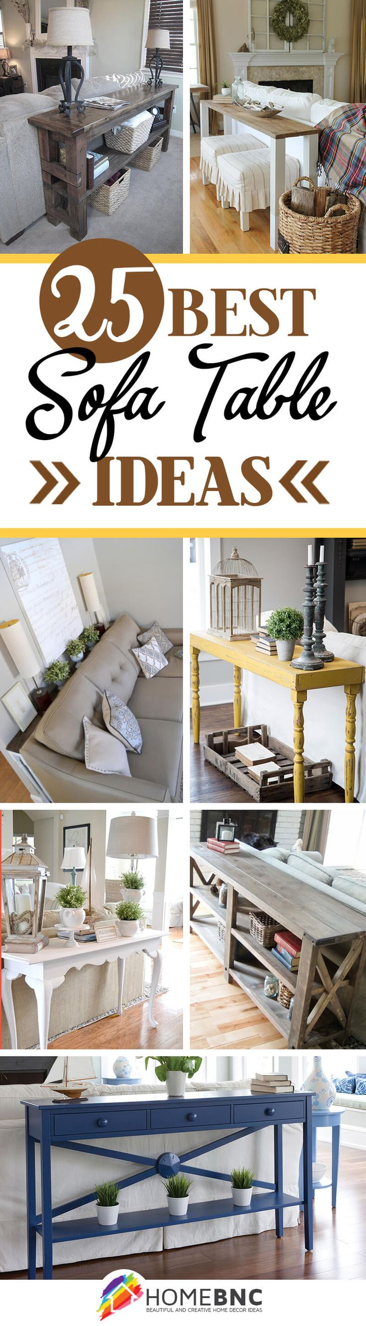 25 on trend sofa table ideas
