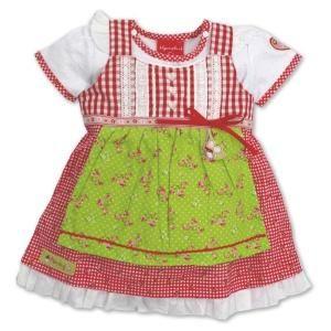 """Baby-Dirndl """"Alpenglück"""" rotkariert Gr. 98"""