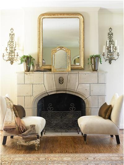 62 best Mantels, mirrors and clocks. images on Pinterest ...