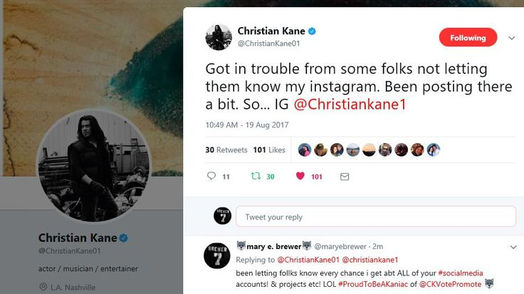 #ChristianKane tweet from @ChristianKane01 his only official twitter AUGUST 19, 2017 part 2