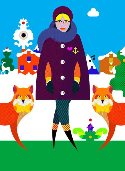 Jamie Cullen - Winter  Tiphaine-illustration  #winter #fox