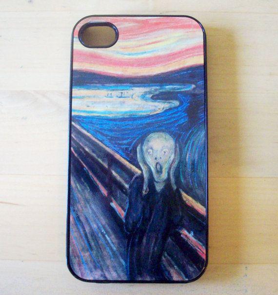 Munch  The Scream iPhone 4/4S case by GelertDesign on Etsy, £7.00