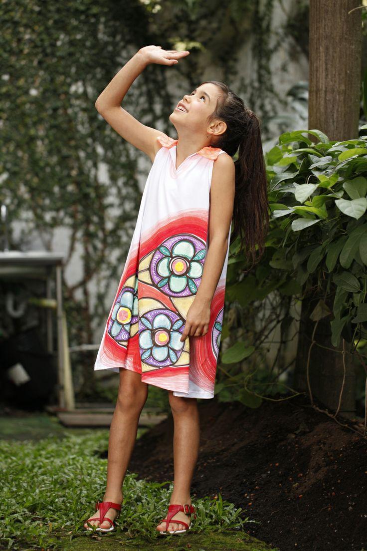 Piezas pintadas a mano!Vestido Silvana.#ÚnicoComoTú #TallerCroquisModaIlustrada #decalisehablabien