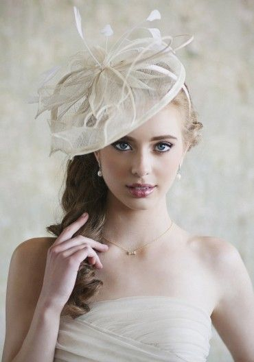 """Wedding Hats For Short Hair: I Love How This Is Listed As A """"headband."""" Wish I Had The"""