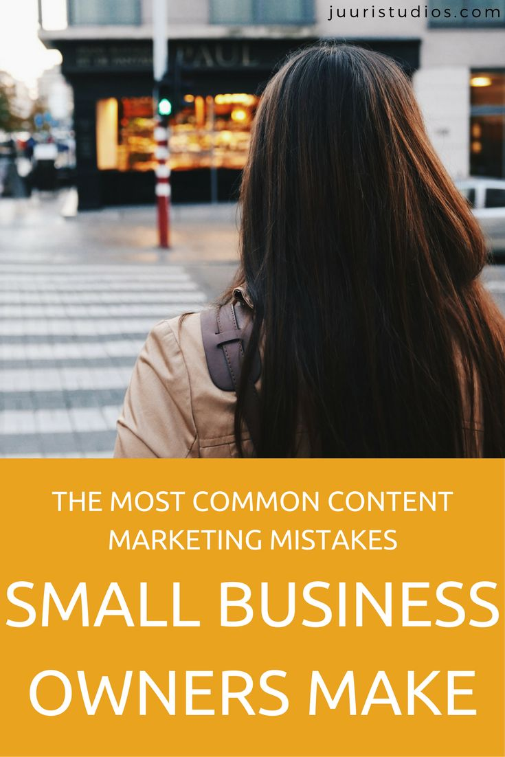 The most common content marketing mistakes small business owners make + how to avoid them