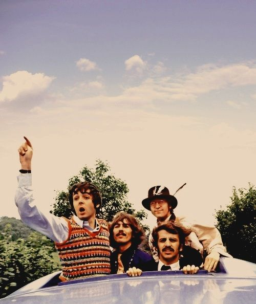 Paul McCartney, George Harrison, John Lennon, and Ringo