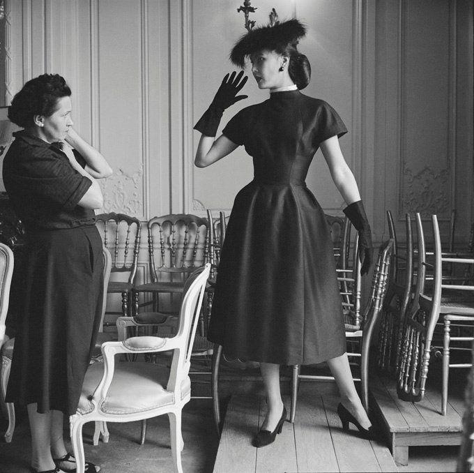 Dior Model Alla in Croque-Mitaine with Seamstress