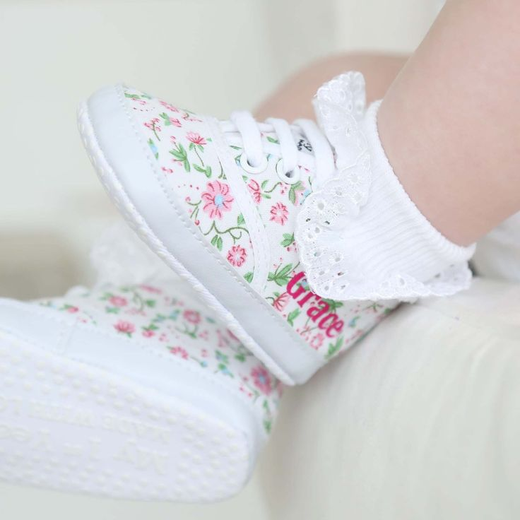 Personalised Floral Trainers