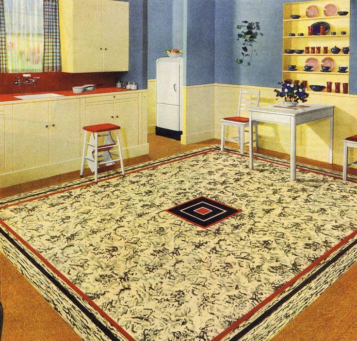 Retro Linoleum Kitchen Flooring