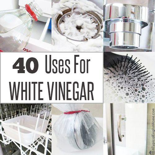 40 Uses For White Vinegar