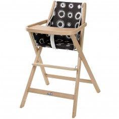 Chaise haute pliable Traveller bois naturel - Geuther