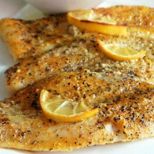 Lemon pepper fish with lemon butter rice recipe for Lemon fish recipe