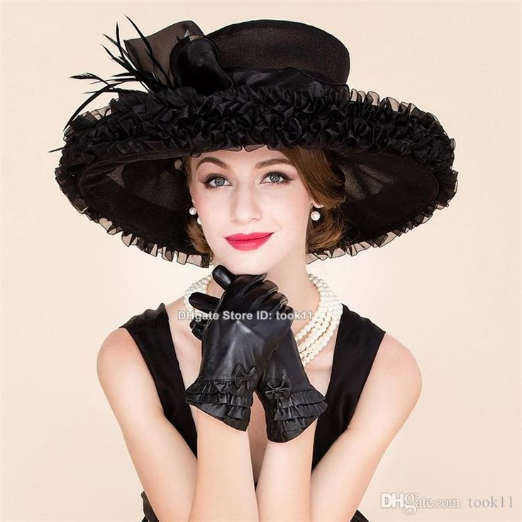 Buy Fashion Summer Derby Hats Kentucky For Tea Dresses Hats Church Hats Black Women Hat Wide Brim Organza Hat Woman Wedding Sombrero From $ 65.33 From Took11 | DHgate.Com